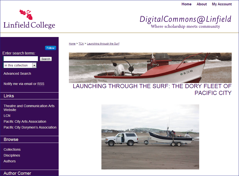 Launching through the Surf- The Dory Fleet of Pacific City - Linfield College Research - DigitalCommons@Linfield