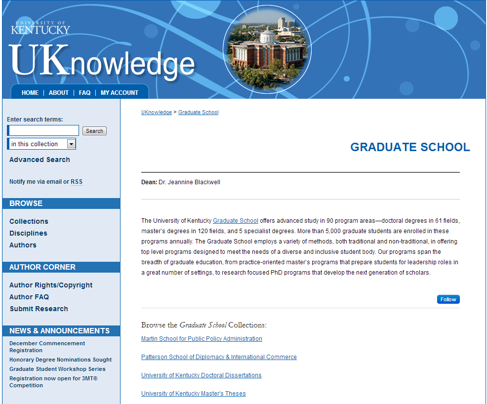 Graduate School - University of Kentucky Research - UKnowledge