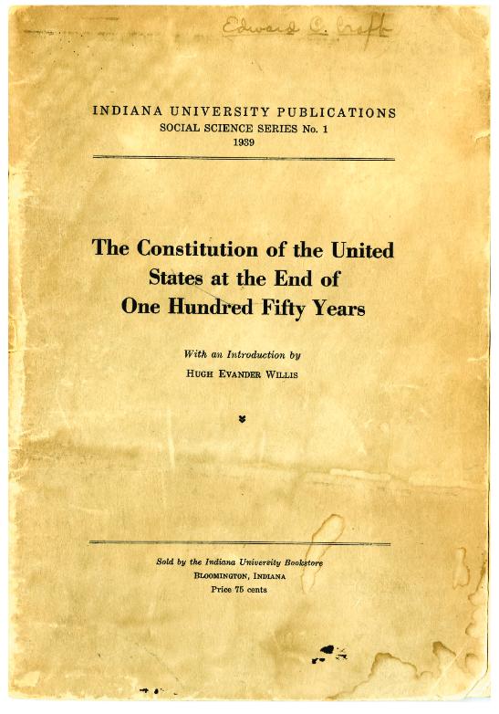 IU Maurer historic document