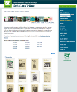 Missouri Science & Tech Special Collections Example